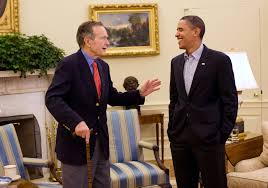 filebarack obama and george h w bush in the oval officejpg fileobama oval officejpg