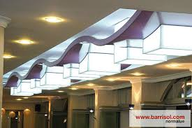 the luminaries exist in perforated printed and recycled versions 130 colors and 8 finishes are available barrisol lighting