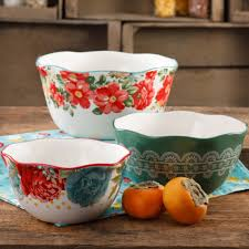 The Pioneer <b>Woman</b> Vintage Floral <b>3</b>-<b>Piece</b> Nesting Bowl <b>Set</b> ...