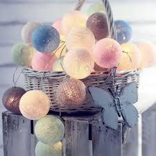 <b>LED Cotton Ball String</b> Christmas Day Wedding INS Decorative ...