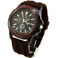 Generic Fashion Men s <b>Outdoor Sport</b> Brown Silicone Quartz Wrist ...
