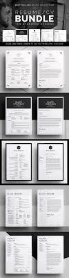 17 best images about cv models creative resume resume cv bundle black collection