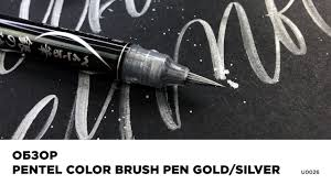 Обзор <b>кисти Pentel</b> Color <b>Brush</b> Pen Gold/Silver - YouTube