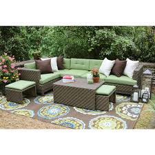 patio sectional seats