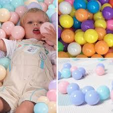 <b>100 Pcs</b>/lot <b>Eco</b>-<b>Friendly</b> Colorful Ball Soft <b>Plastic</b> Ocean Ball Funny ...