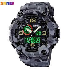 <b>SKMEI</b> 1617 <b>Military</b> Camouflage Sport Watches Stopwatch Alarm <b>3</b> ...