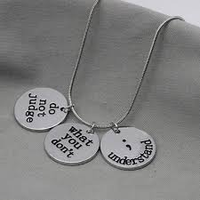 2018 <b>New Arrival Semicolon</b> Necklace Suicide <b>Awareness</b> Jewelry ...