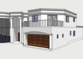Building plans House plans D plan visualisationContemporary theme flat roof