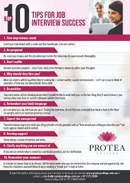 protea college top tips for interview success date