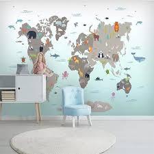 Custom wallpaper Nordic hand-painted cartoon geometry animal ...