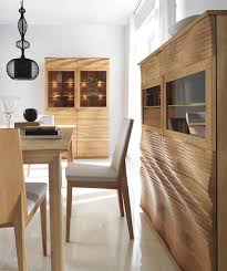 modern wood dining room sets: alluring gothic pendant lamp above teak dining table for four users near cabinets by modern wood
