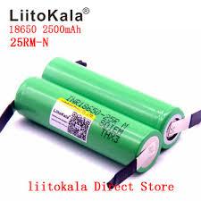 2019 <b>NEW Liitokala New Original</b> 18650 2500mAh battery ...