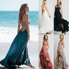 2018 New <b>Fashion Women Summer Boho</b> Dress Vestidos Largos ...