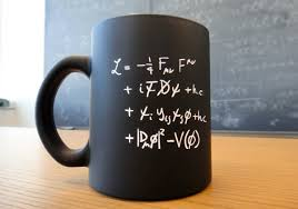 """Standard Model Lagrangian"" mug from CERN."