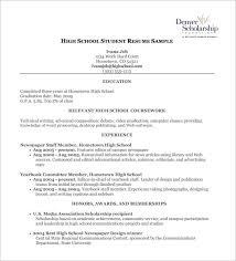 high school student resume pdf free download sample student resume high school