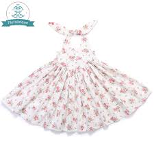 Baby <b>Girl Clothes</b> 2018 Brand <b>Girls Summer Dresses</b> Vintage Floral ...