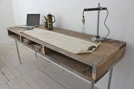 handcrafted industrial office furniture chic wood office desk