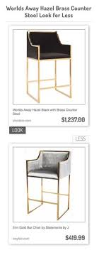 worlds away hazel black with brass counter stool vs erin gold bar chair by statements by chair aac22 roble lacado