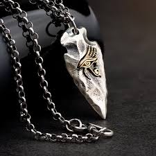 The Eye of Horus Spear <b>S925 Silver Necklace</b> – Coooolstuff