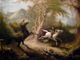 the legend of sleepy hollow rip van winkle the devil and tom the headless horseman pursuing ichabod crane oil 26 7 8 x 33 7