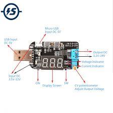 DC <b>DC 5V to 3.3V 9V</b> 12V 24V USB Step UP / Down Power Supply ...