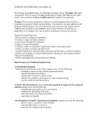 proposing a solution essay  wwwgxartorg proposing a solution essay problem solution essay ewrt a the writing assignment essay
