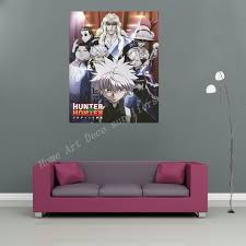 hunter x hunter waterproof back glue paper wall sticker wall poster big boy girl room prints big boys furniture