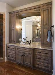 long bathroom cabinets images of master bathrooms with dark wood cabinets cabinets of the des
