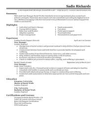 best case manager resume example livecareer choose