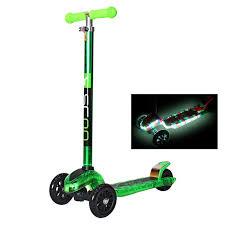 Купить <b>самокат Y</b>-<b>SCOO Maxi</b> Laser Show green metallic в ...