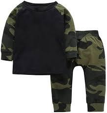YIJIUJIU <b>Baby Boy Girls</b> Camouflage Tops+ Army Designer <b>Pants</b> ...