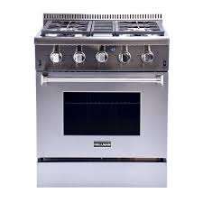 Gas Stainless Steel Cooktop Kitchenaid 30 In 58 Cu Ft Gas Range With Self Cleaning Oven In