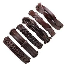 1set/6pcs <b>Vintage Leather Bracelets</b> For Women <b>Punk</b> Bible Leather ...