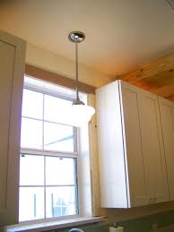 the last bit of accent lighting that we installed is a pendant over the sink it is a school house pendant in a similar style as the main lights you can cabinet accent lighting
