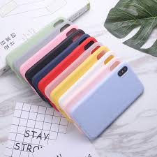 Silicone <b>Case Solid</b> Color Cute Plain Candy <b>Phone</b> Case <b>For</b> ...