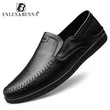 <b>2019</b> Casual <b>Men Shoes</b> Genuine Leather Breathable <b>Moccasins</b> ...
