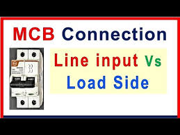 MCB breaker connection - input & load side connections - YouTube