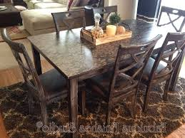 pottery barn style dining table:  dining room metal support bracket with turnbuckle details pottery barn chairs rectangle hard wood table apple