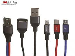 <b>Аксессуар Usams US-SJ420</b> USB - Type-C / MicroUSB / Lightning ...