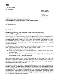 payment of tenancy charges letter issued to the system