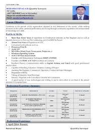 quantity surveyoryours faithfully  mohamed riyas    curriculum vitae page  of  mohamed riyas quantity surveyor
