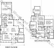 Unique Story House Plan  Floor Plans for Two Story Homes  Modern    Two Story House Plan D