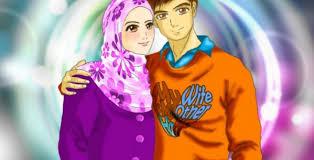 Image result for gambar kartun suami istri muslim
