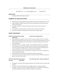 resume  medical office assistant resume sample  chaoszsample resume