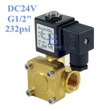 """DC24V <b>G1</b>/<b>2</b>"""" <b>Brass</b> Electric Solenoid Valve 232 psi <b>Normally</b> ..."""