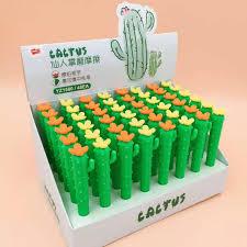 Ellen Brook <b>1 Pcs</b> Korean Stationery <b>Cute Kawaii Cactus</b> Office ...