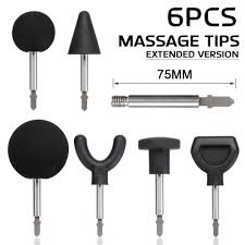 6Pcs/Set 75mm <b>Muscle Relaxation</b> Massage Guns Attachments For ...