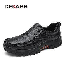 DEKABR 100% Genuine <b>Leather</b> Men <b>Shoes Soft</b> Men Casual ...