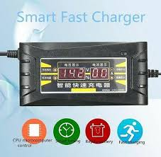 <b>12V 6A LCD Display</b> Smart Car Intelligent Fast Battery Charger For ...