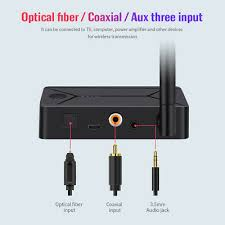 TX13 3 in 1 <b>Bluetooth</b> Transmitter Optical Coaxial <b>AUX</b> 3.5mm Audio ...